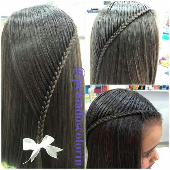 Pin de sandra quiceno en peinados para niña Pinterest Peinados - peinados de nia faciles de hacer