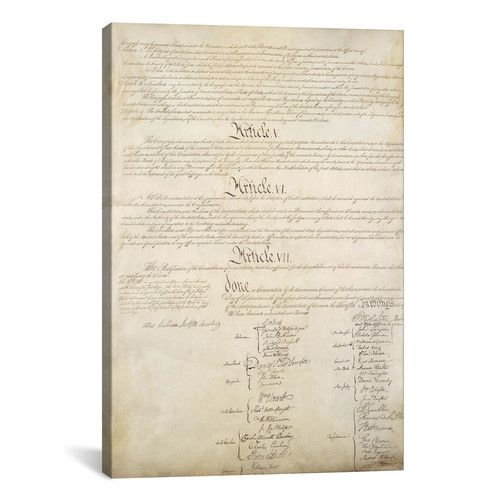 Found it at Wayfair - Political 'The Constitution Document Signatures' Textual Art on Canvas