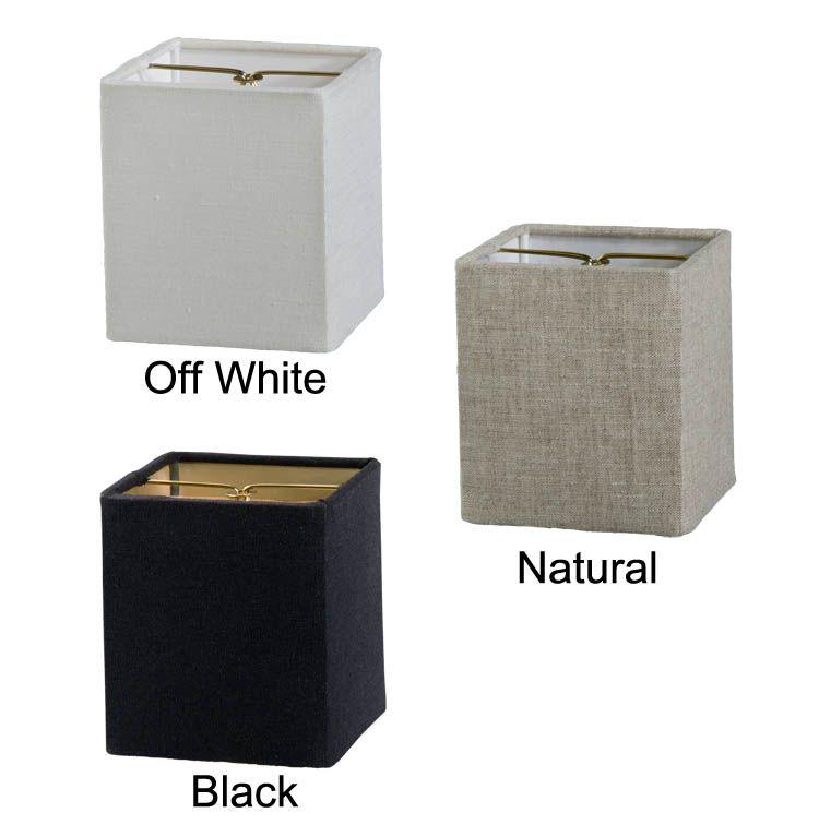 Chandelier Shade Mini Retro Square Hardback- Fine Linen 00713F ...