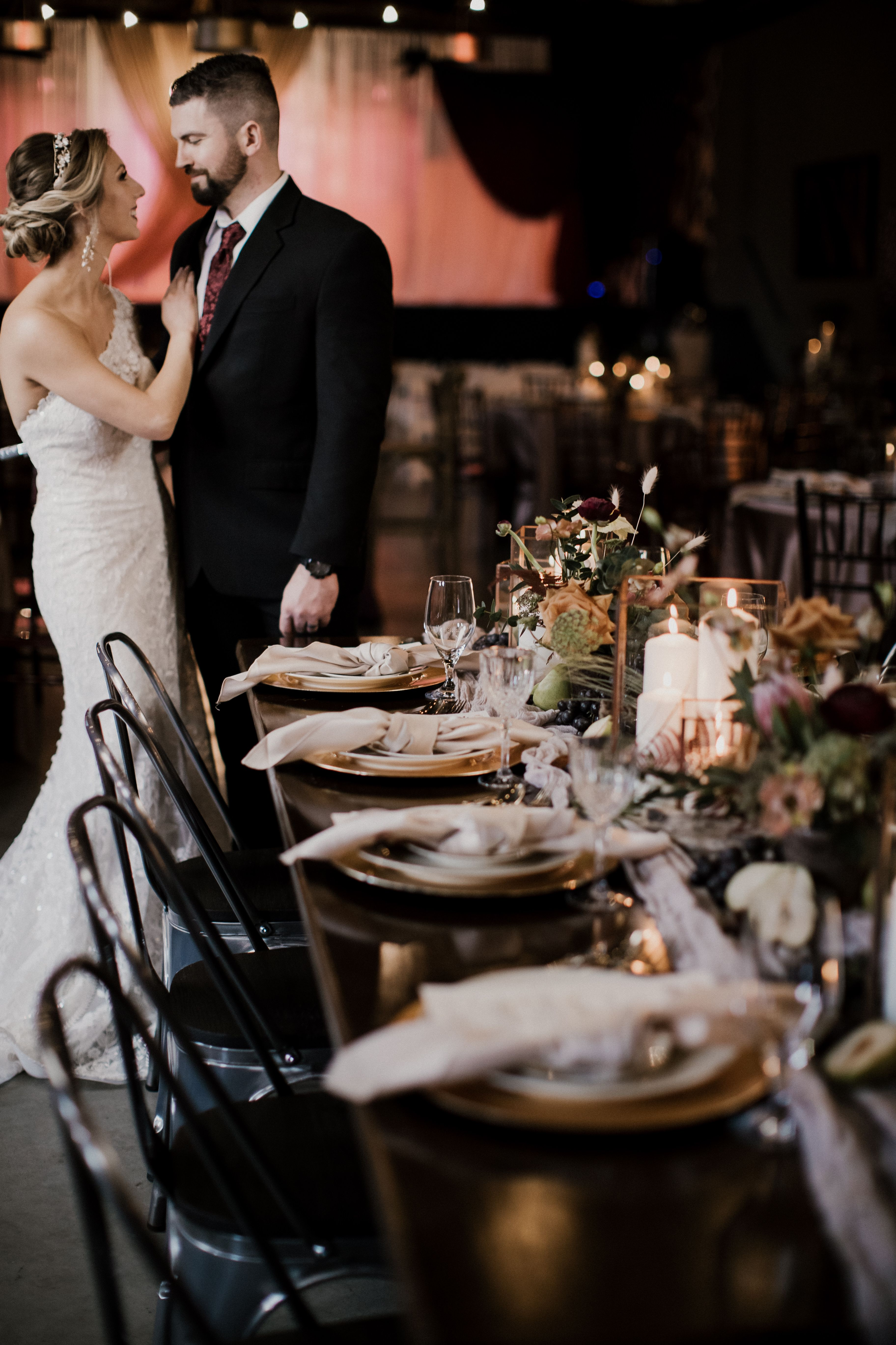 Industrial Romance Styled Shoot The Brightside Music Event Venue Dayton Ohio Industrial Wedding Photos Event Venues Music Event