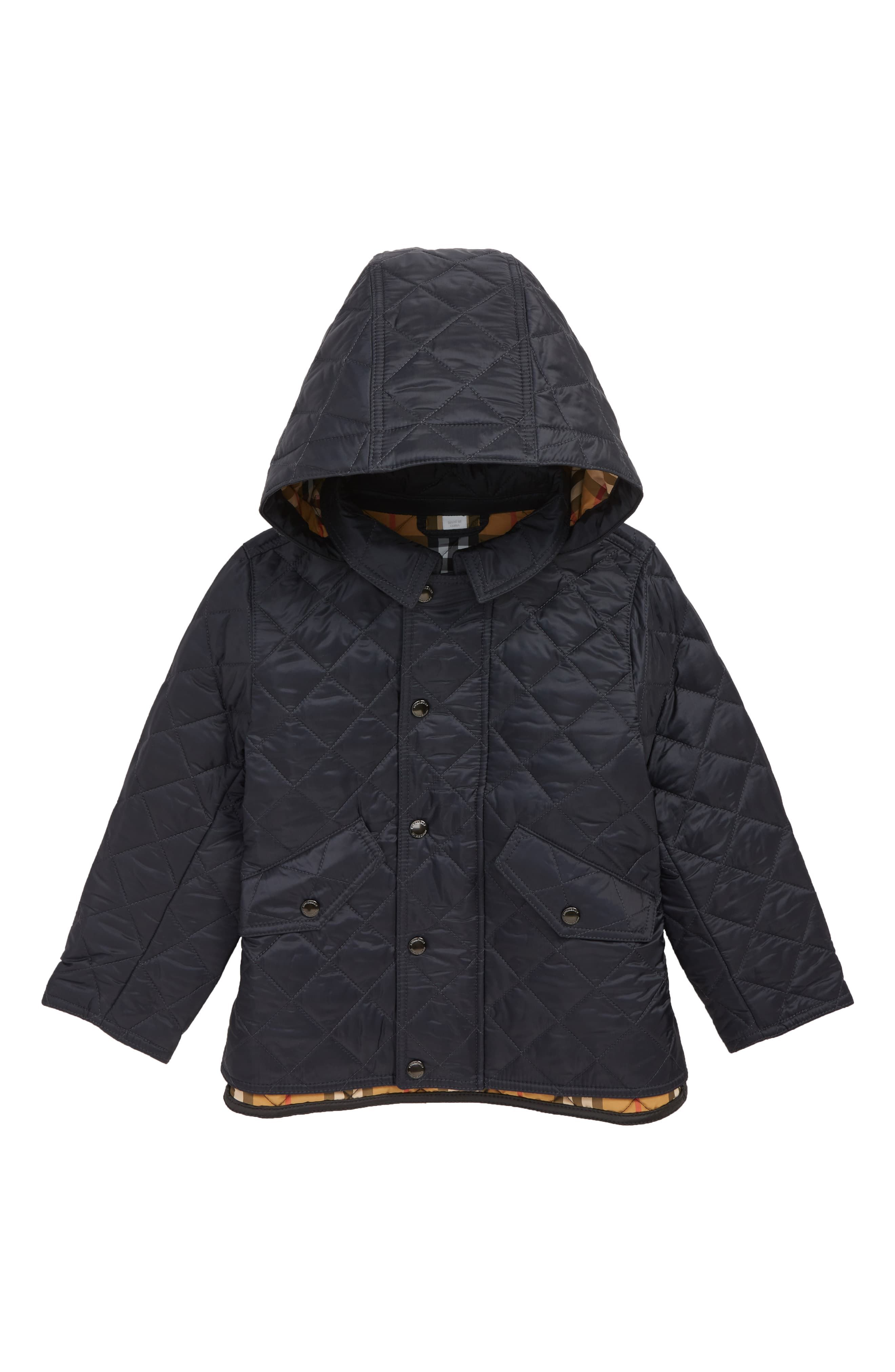Toddler Boy S Burberry Ilana Quilted Water Repellent Jacket Size 2t Blue Water Repellent Jacket Jackets Boy Outfits
