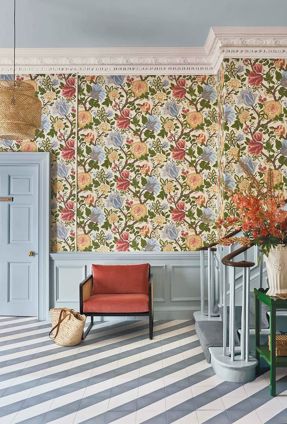 Wallpaper that wows as part of a layered interior from