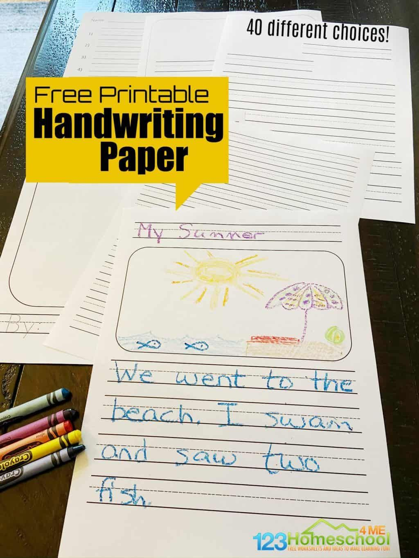 Free Printable Handwriting Paper In