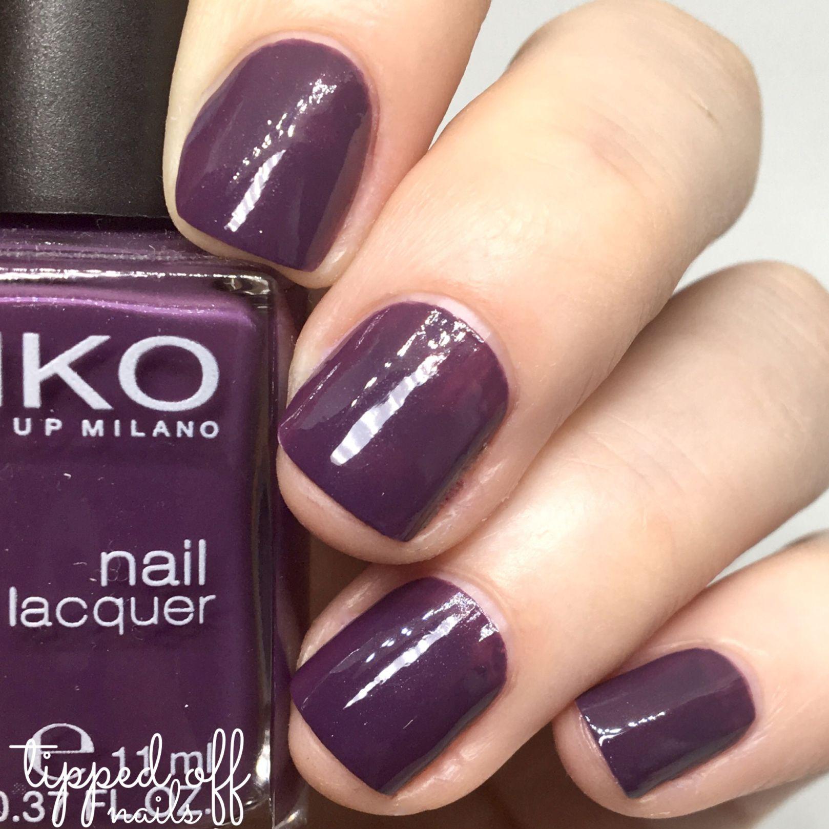 Kiko milano nail lacquer swatch 379 egg plant swatches for Kiko 365 tattoo rose