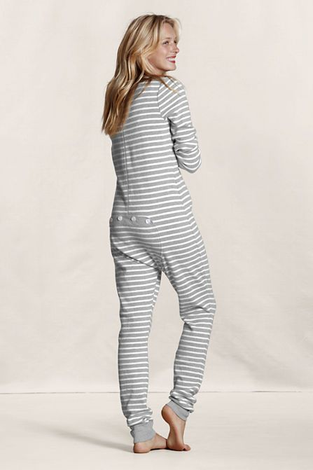 6b20bdf8a915 Women s Thermal Union Suit Pajamas from Lands End
