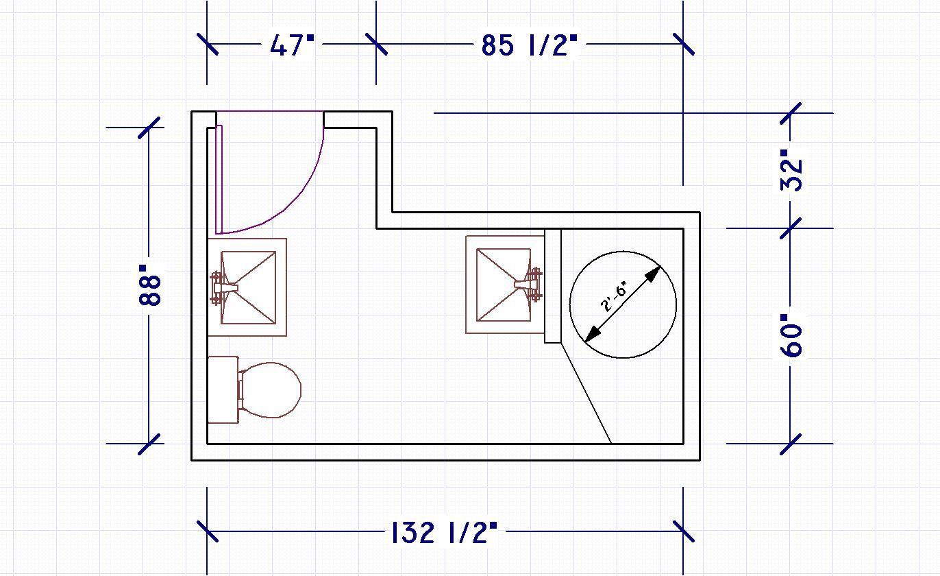 2 piece bathroom layout | pinterdor | Pinterest | Bathroom design ...