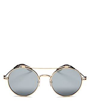 b7631af51875 GIVENCHY MIRRORED BROW BAR ROUND SUNGLASSES, 53MM. #givenchy ...