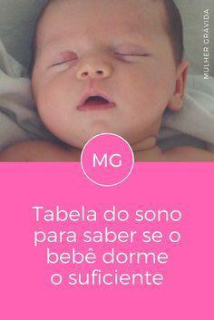 Bebê dormindo | Tabela do sono para saber se o bebê dorme o suficiente