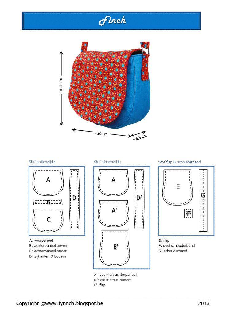 Finch.pdf (gratis patroon), bolsa,   manual   Pinterest   Bolsos ...