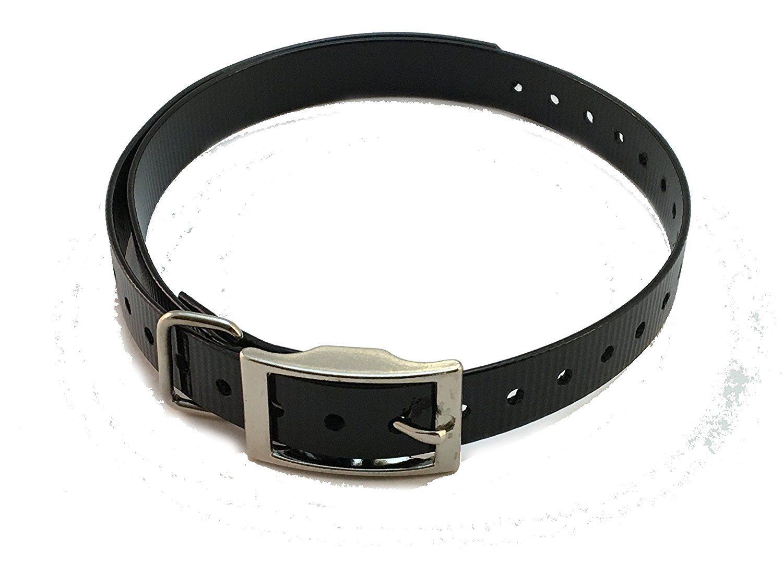E Collar Einstein Compatible 1 Square Buckle High Flex Black Waterproof Dog Strap For Garmin Dogtra Petsafe Dog Accessories Dog Training Collar Sporting Dogs