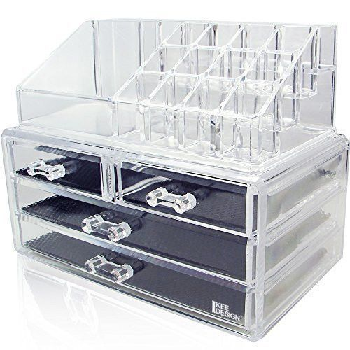 Ikee Design Acrylic Jewelry Cosmetic Storage Display Boxes Two Pieces Set In 2019 Beauty Jewelry Display Box Cosmetic Storage College Dorm Decorations
