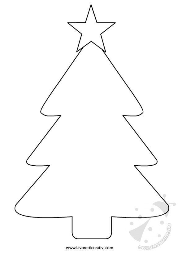 Albero Di Natale Sagome Per Lavoretti Formicky Alberi Di Natale