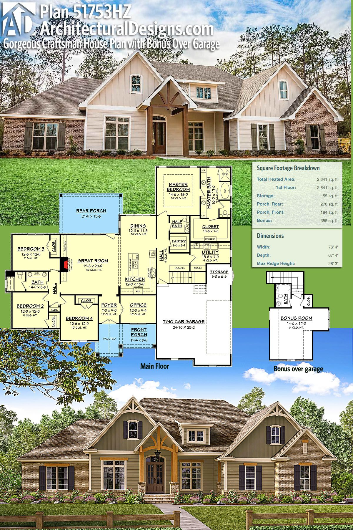Architectural Designs House Plan 51753HZ gives you