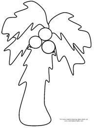 Chicka Chicka Boom Boom   coconut tree printable | birthdays