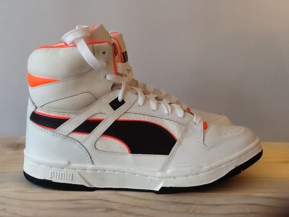 vintage retro puma invader hi top basketball boots shoes 1990 deadstock  trainers
