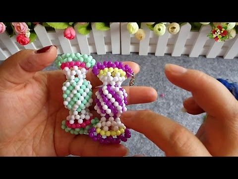 水晶串珠 趣味小物 糖果 - YouTube