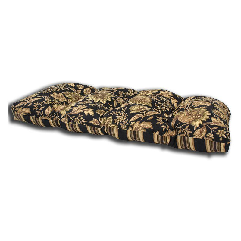 Comfort Classics Outdoor Melinda Midnight Print Wicker Loveseat Cushion - HY-V535475A-D9W1