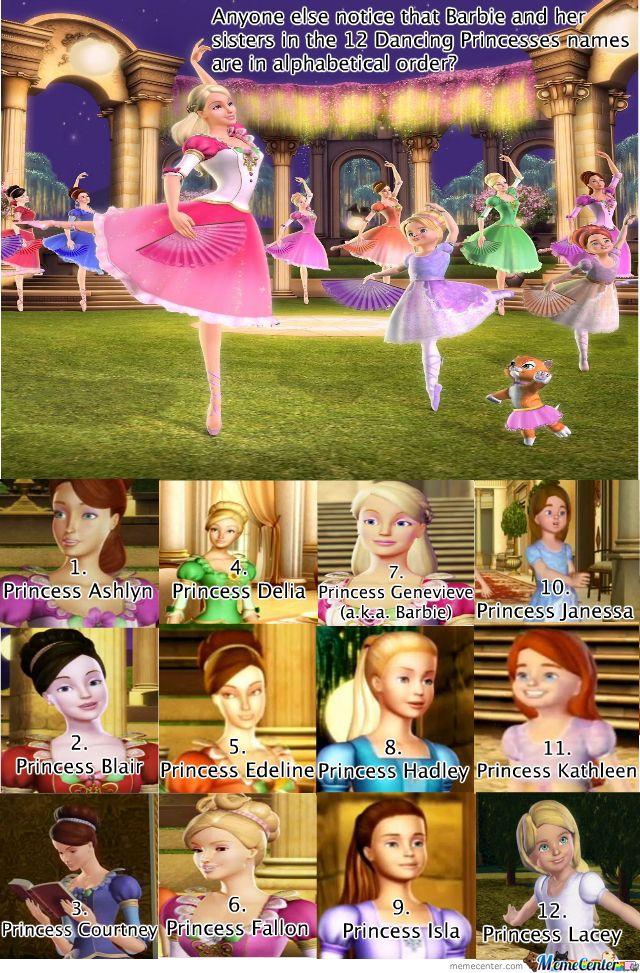 Barbie 12 dancing princesses meme funny pinterest meme princess and childhood - Barbie and the 12 princesses ...