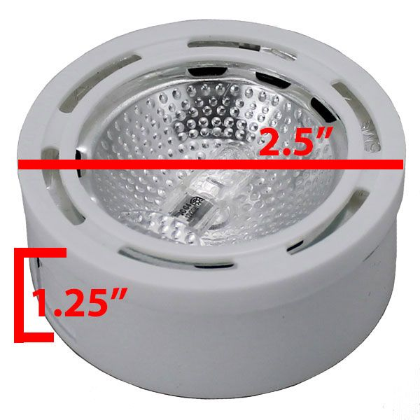 12v halogen under cabinet white puck light cph1 aloadofball Image collections
