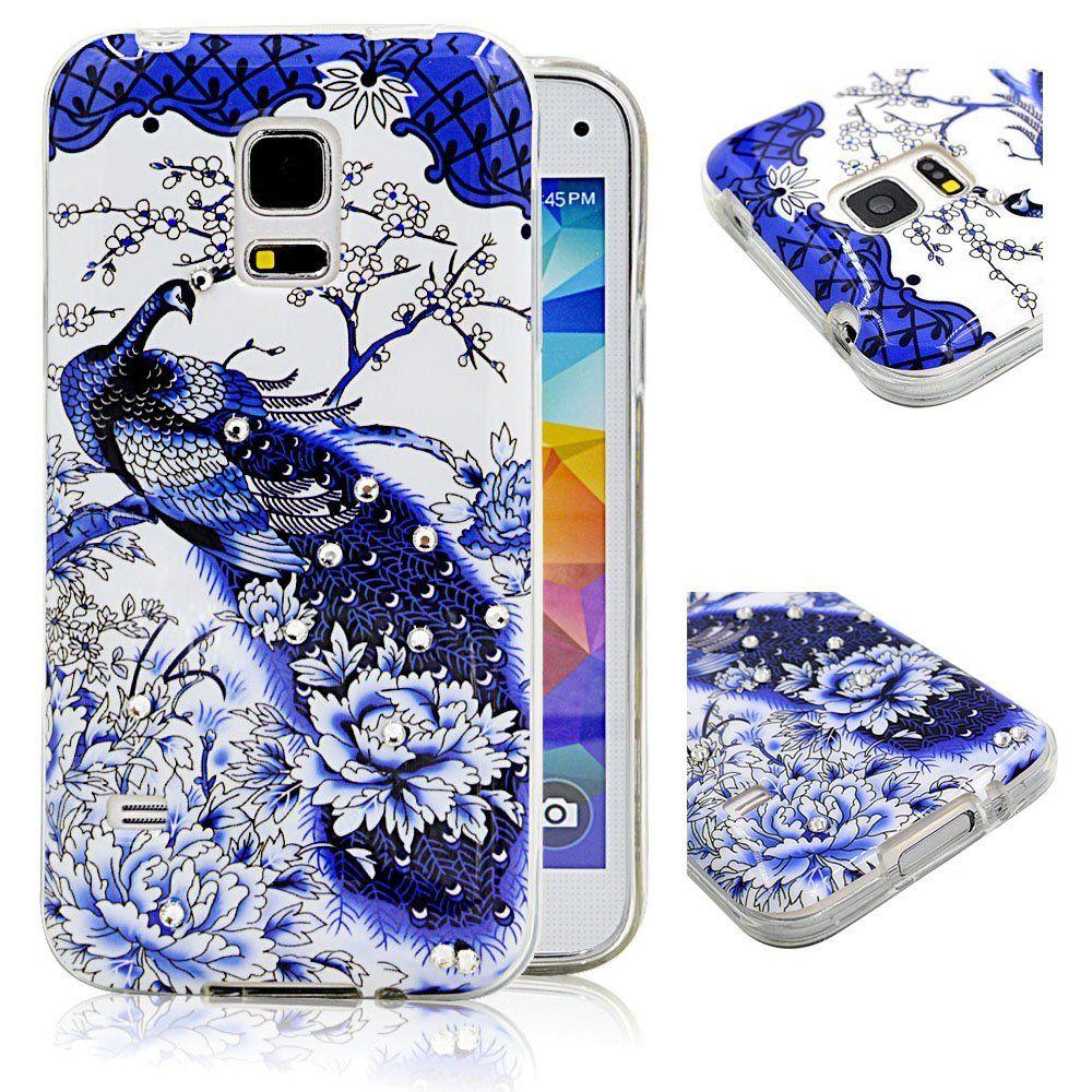 Amazon Com Samsung Galaxy S5 Mini Case Ludan Shining Series Sparkling Diamond Back Protective Tpu Case Cover For Samsung Galaxy Cute Cases Case Phone Cases