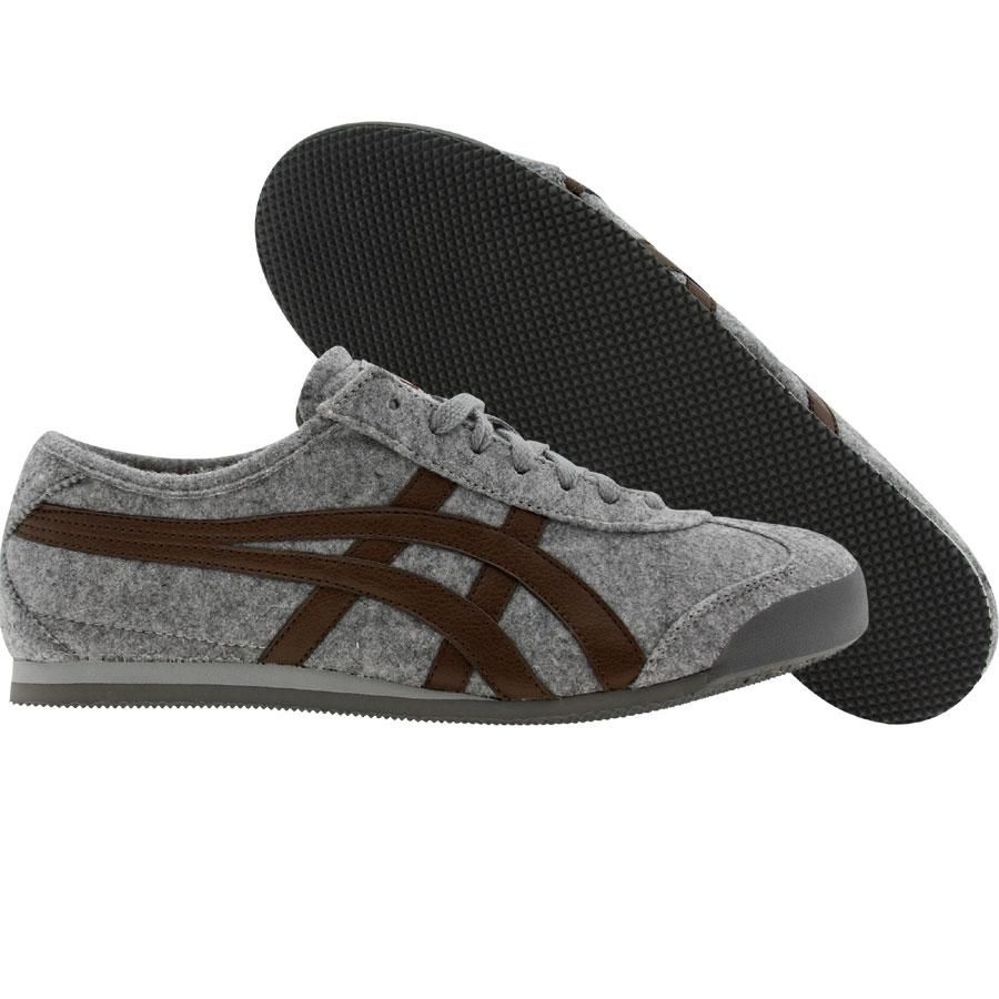 asics onitsuka tiger mexico 66 grey felt bison kicks. Black Bedroom Furniture Sets. Home Design Ideas