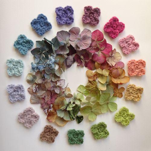 Hydrangea Stripe Blanket Ta Dah Crochet Flowers Free Pattern Crochet Flower Tutorial Crochet Flower Patterns