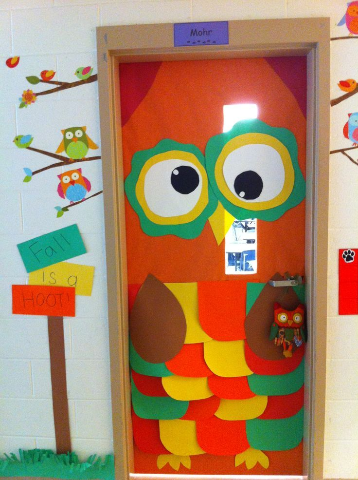Fall Is A Hoot Owl Fall Classroom Door Decor Classroom Bulletin