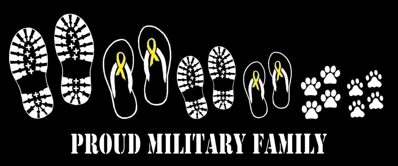 Car sticker custom made - Military Boot Yellow Ribbon Flip Flop Family Car Decal Sticker Custom Made