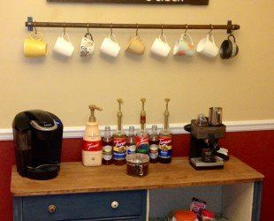 ~ 310x250xDIY-rustic-coffee-station-table-with-storage-and-drawer-painted-with-chalk-blue-color-under-hanging-cup-hooks-rack-ideas-310x250.jpg.pagespeed.ic. ... repinned by https://www.pinterest.com/PinsByBecky/