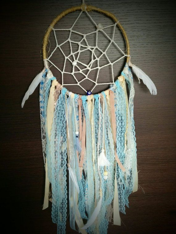 Handmade Custom Baby Blue Boho/Hippie Chic Lace & Ribbon ...