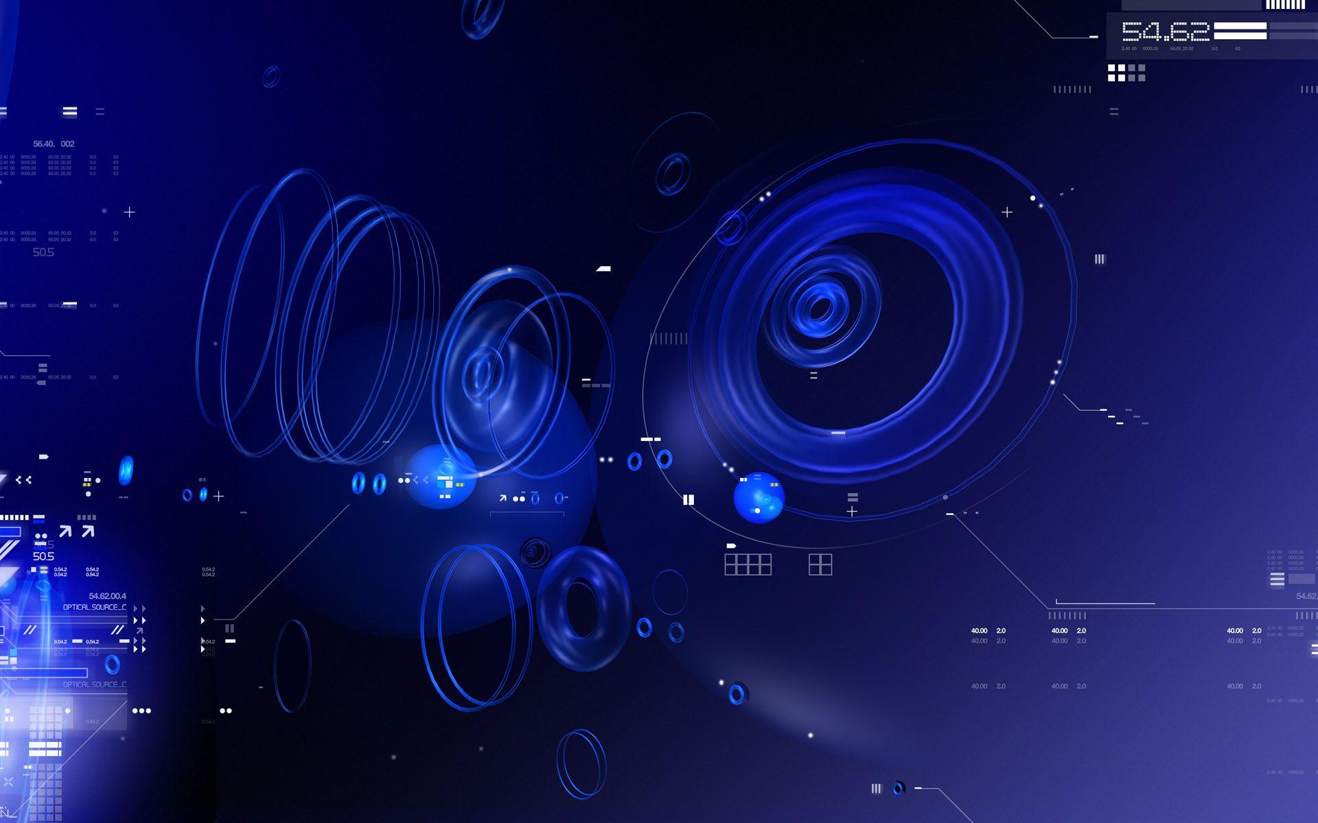 Blue Tech Circles Technology Wallpaper Android Wallpaper Blue Hi Tech Wallpaper