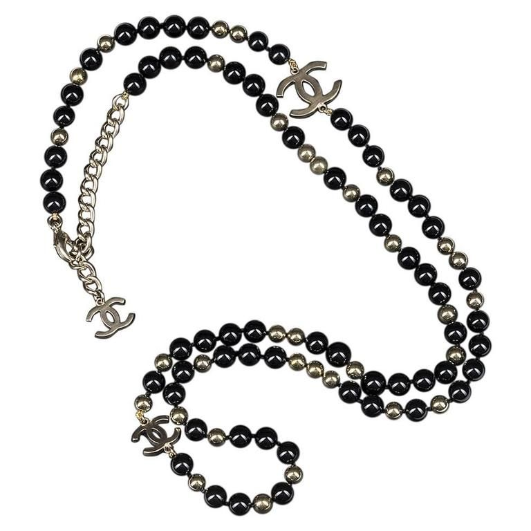 Chanel Black & Gold 'CC' Necklace