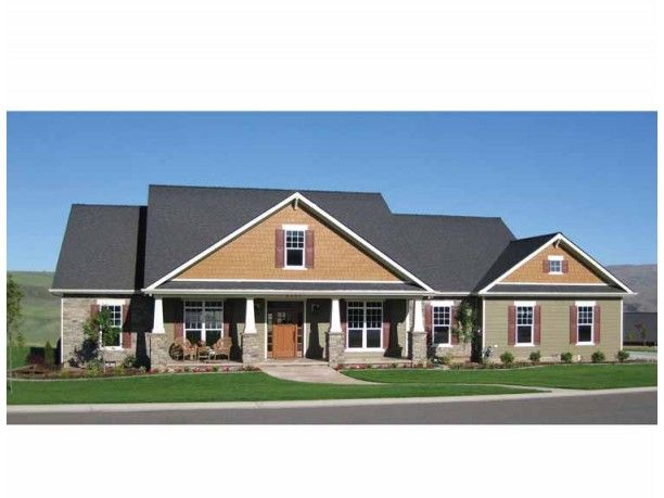 Craftsman house plan with 2800 square feet and 4 bedrooms for 2800 sq ft ranch house plans