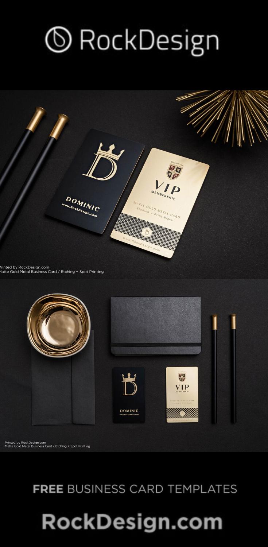 Luxury Vip Member Gold Metal Card Dominic Metal Business Cards Luxury Business Cards Business Card Design