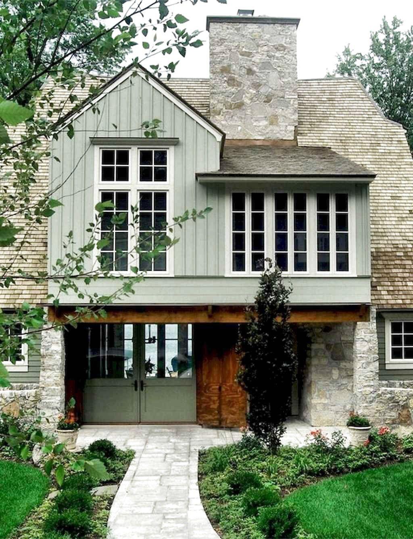 ✔76 Favourite Modern Farmhouse Exterior Design Ideas #FarmhouseExterior #moder...