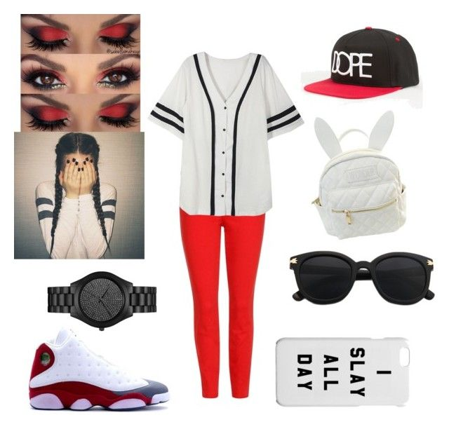 .... by elainia on Polyvore featuring polyvore fashion style J Brand cutekawaii Michael Kors Dope Retrò clothing
