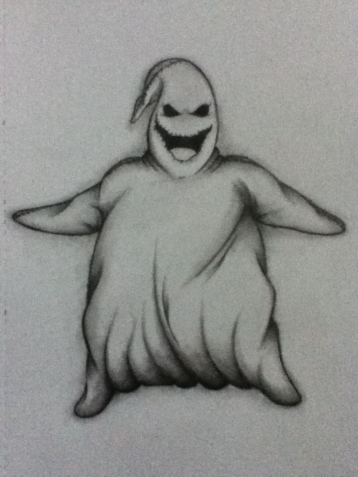 I am the shadow on the moon at night ! ...  Filling your dreams to the brim of fright ! ... -Oogie Boogie   Nightmare Before Christmas ❤   Drawing by me !:)