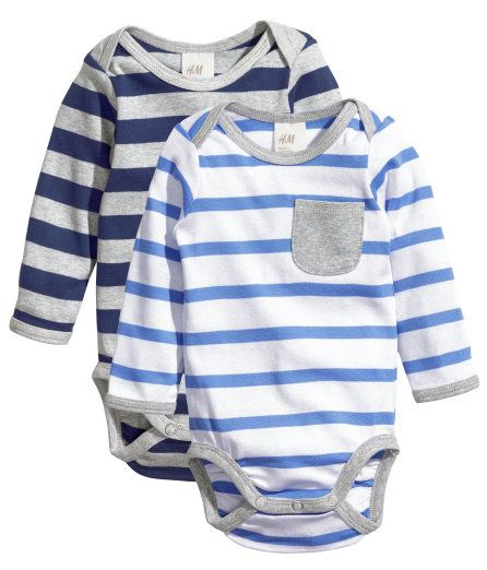 H&M Baby Boy Long sleeve onesie | Baby kids clothes, H&m ...