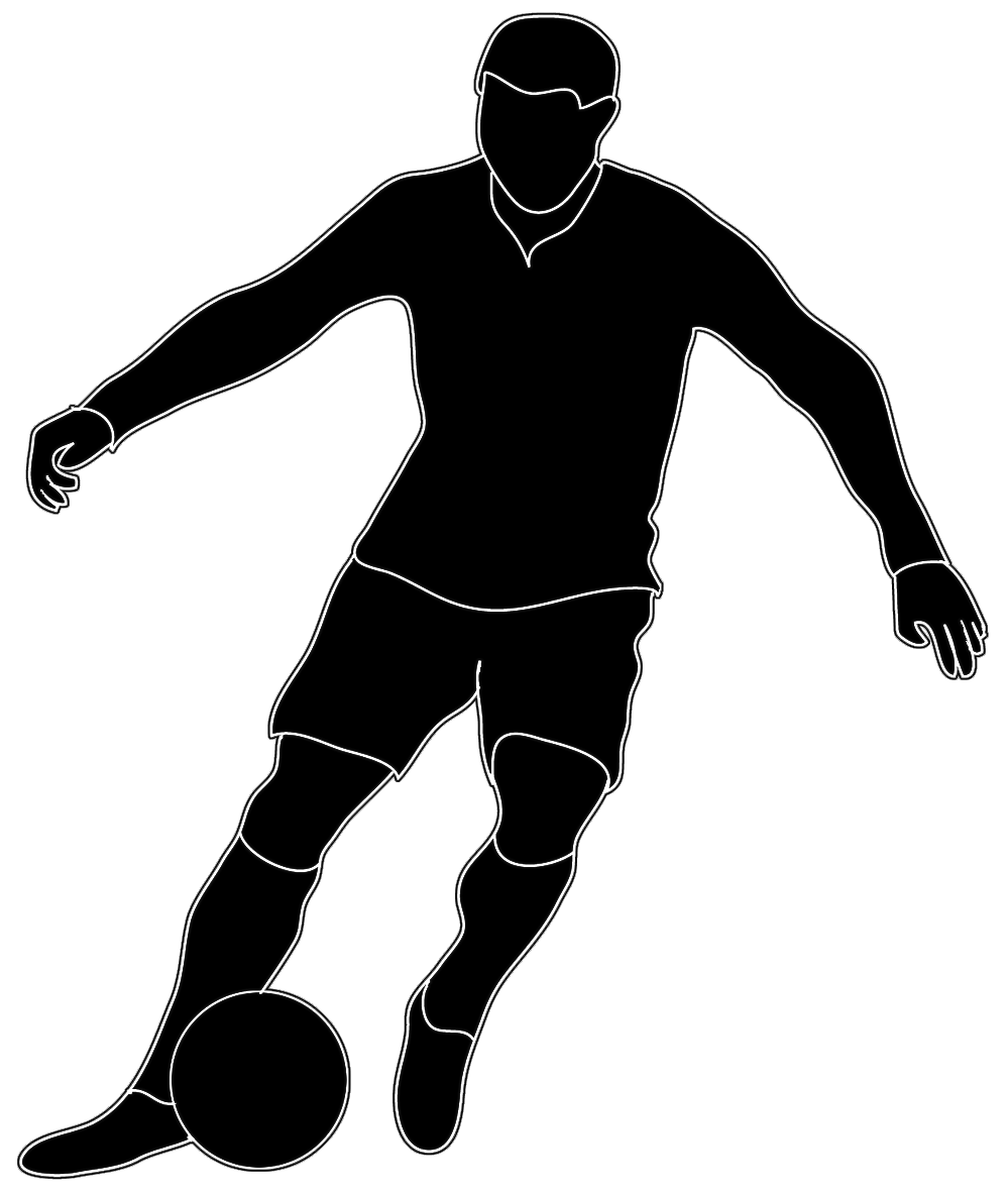 Black White Silhouette Soccer Player Silhouette People Football Silhouette Soccer Silhouette