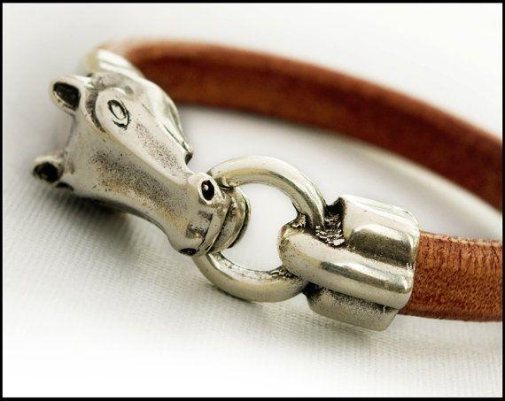 Horse Jewelry  Equestrian Bracelet Gift for Horse by JulesAtNine