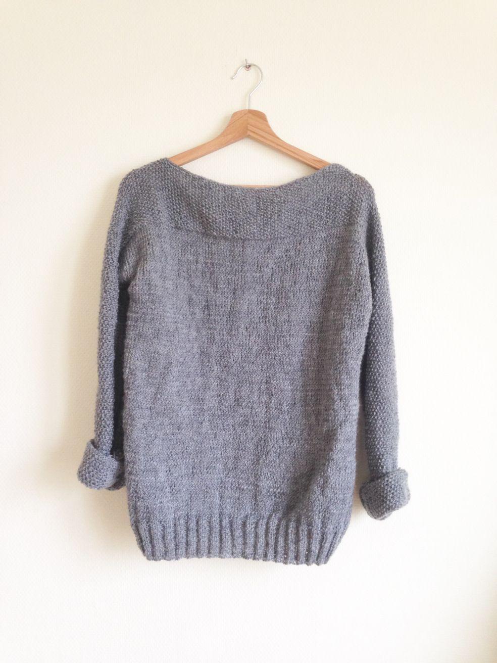 Un pull facile en une partie -DIY Tricot- | Pulli, Stricken und ...