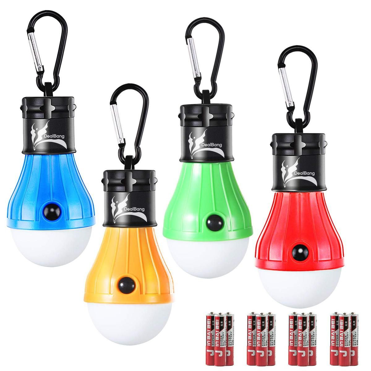 Battery Operated Hanging Tent Light Bulbs
