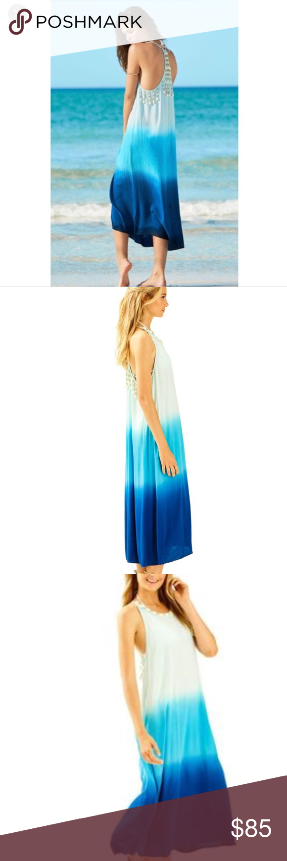 7363844987 Lilly Pulitzer Indigo Ombré Kenli Midi Coverup NWT perfect for summer 👌🏻 Lilly  Pulitzer Dresses Maxi