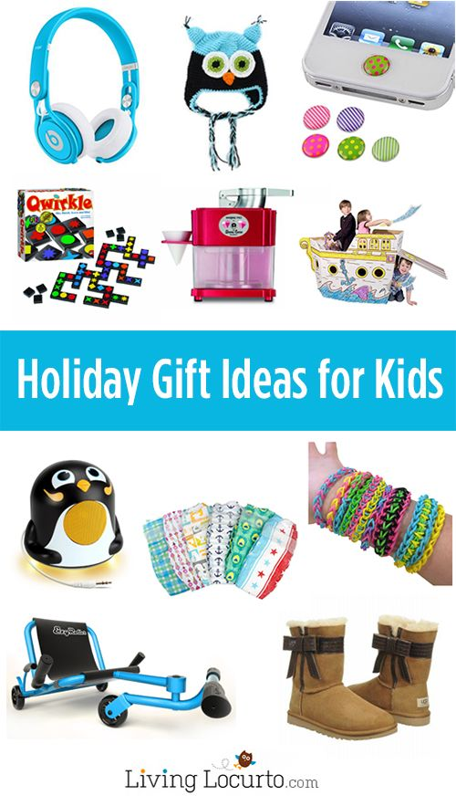Awesome holiday gift ideas for kids of all ages! Christmas stocking stuffers under $5, toys, games, shoes and more. LivingLocurto.com