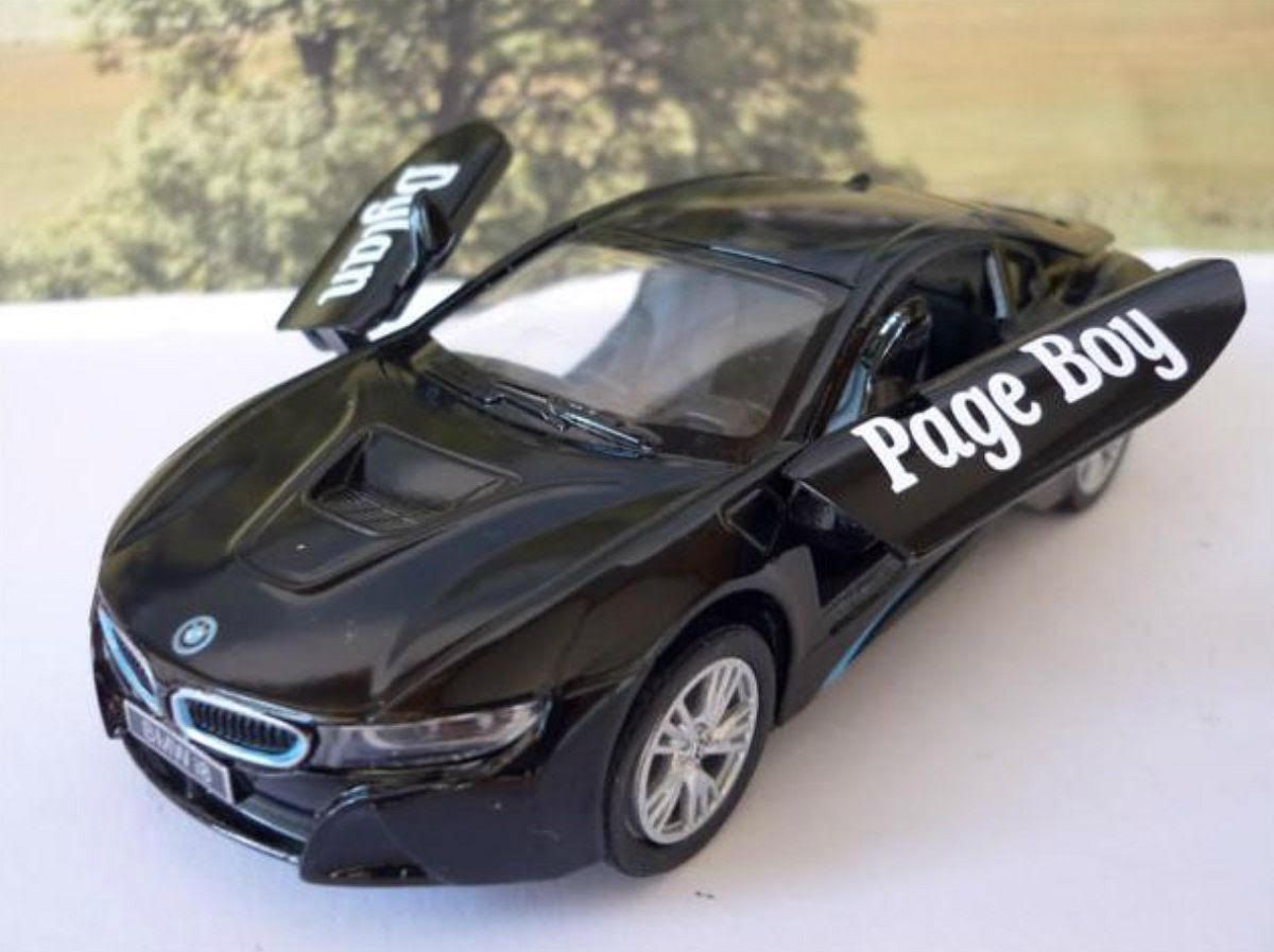 Wedding Day Car Gift Page Boy Black Bmw I8 Boys Toy Model Wedding