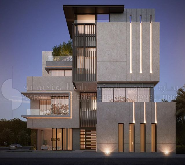 Private Villa Sarah Sadeq Architects Kuwait: Private Villa In #Kuwait By Sarah Sadeq Architects