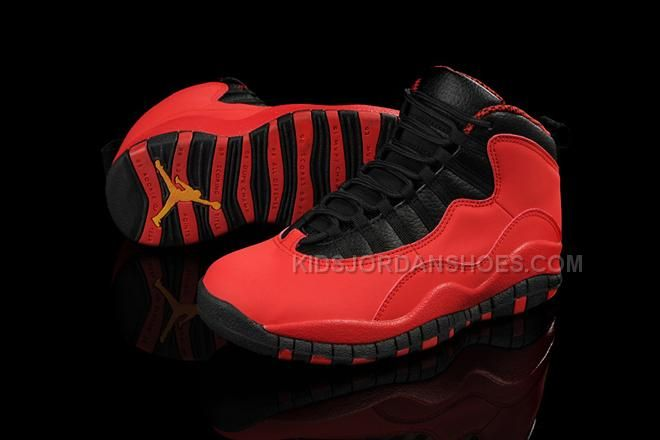 Only 76.00 RETRO 10 WOMEN SHOES - FUSION RED BLACK - JORDANS GS 13907 Free  Shipping! 9ab6a1a8a