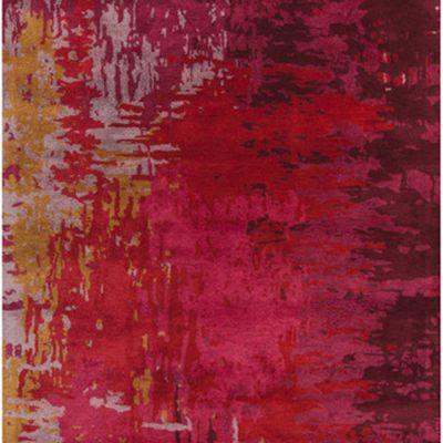 Surya Banshee-3347 Vintage Rug, Cherry/Gold/Mauve