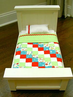 Making an american girl doll bed and bedding from that 39 s for Furniture 5 letters