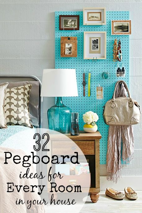 32 pegboard ideas for every room in your house homeplayroom 18 diy pegboards to organize every room solutioingenieria Images